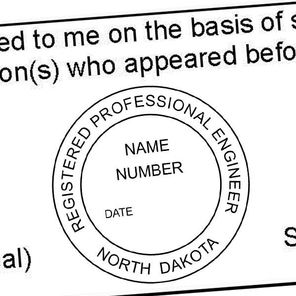 State of North Dakota Engineer Seal Imprint