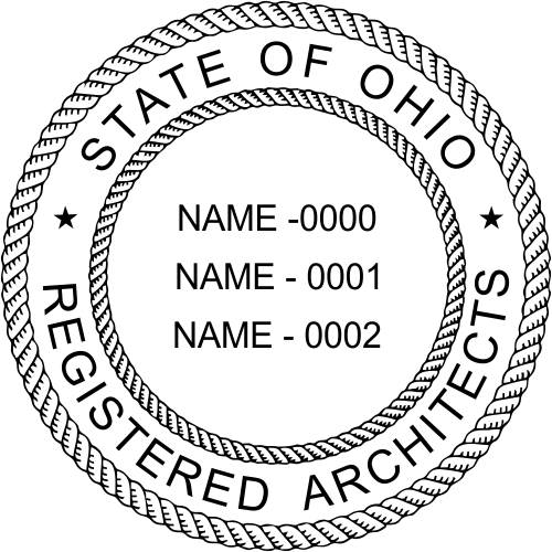 State of Ohio Architect Three Names