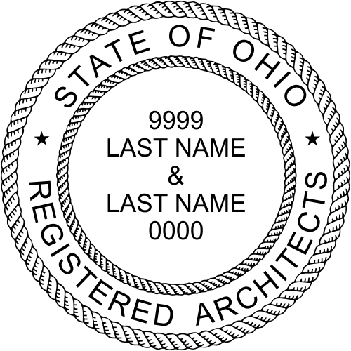 State of Ohio Architect Two Names