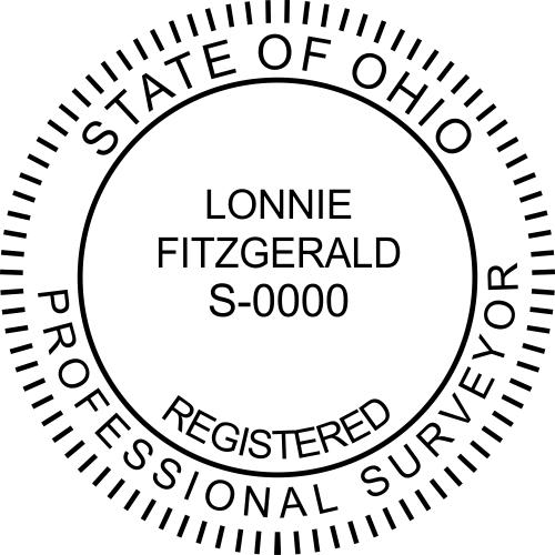 State of Ohio Land Surveyor Stamp