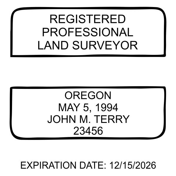 State of Oregon Land Surveyor Seal Imprint