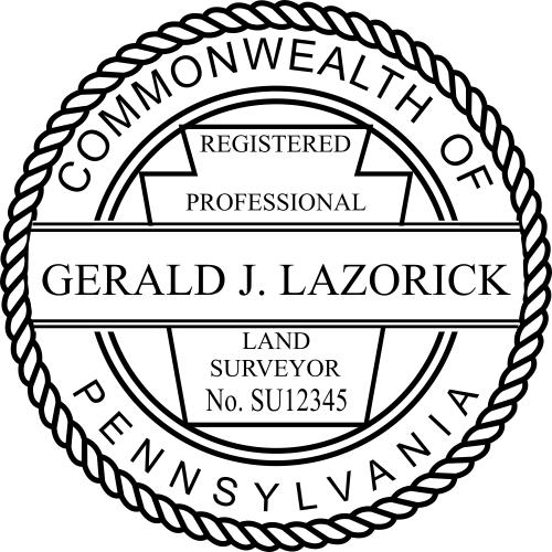 State of Pennsylvania Land Surveyor
