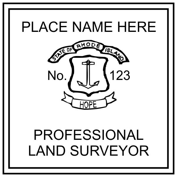 State of Rhode Island Land Surveyor Seal Stamp Seal Imprint