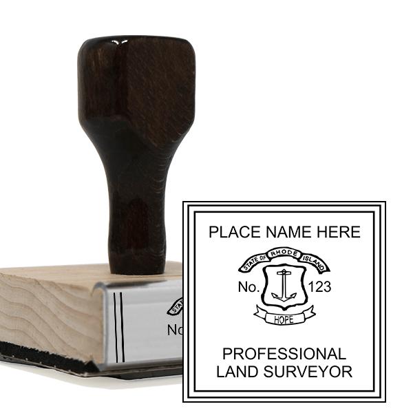 State of Rhode Island Land Surveyor Seal Stamp
