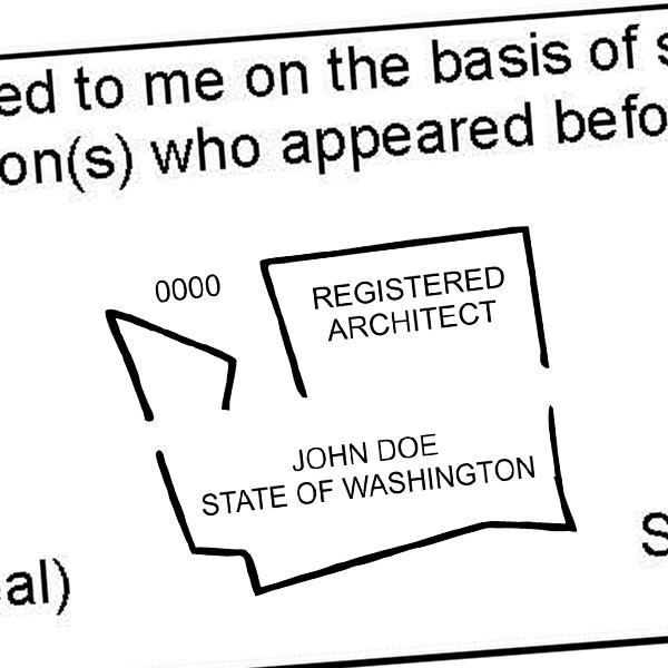 State of Washington Architect Seal Imprint