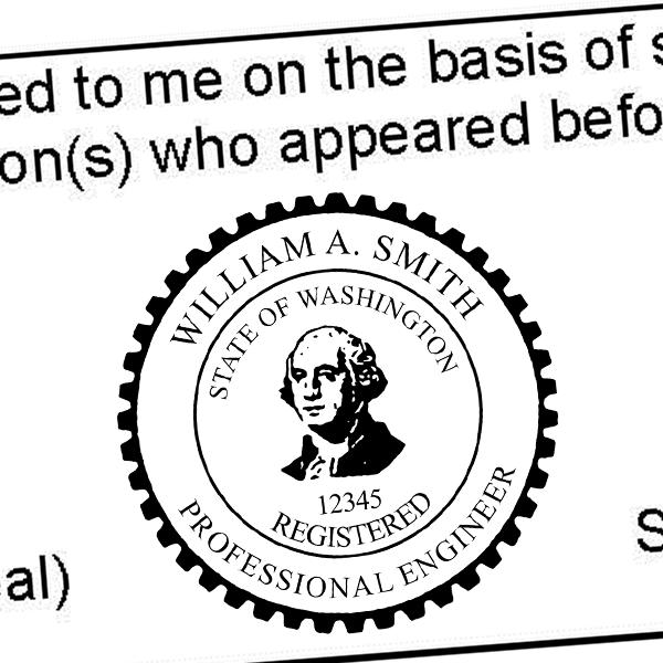 State of Washington Engineer Seal Seal Imprint