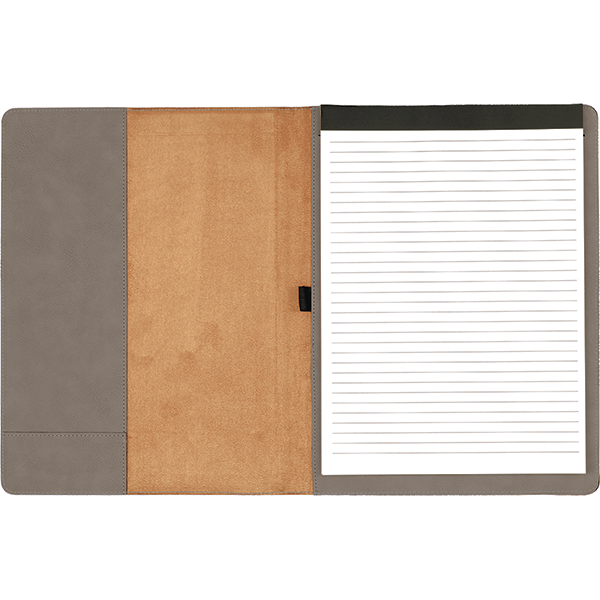 Custom Initials Leatherette Folio - open