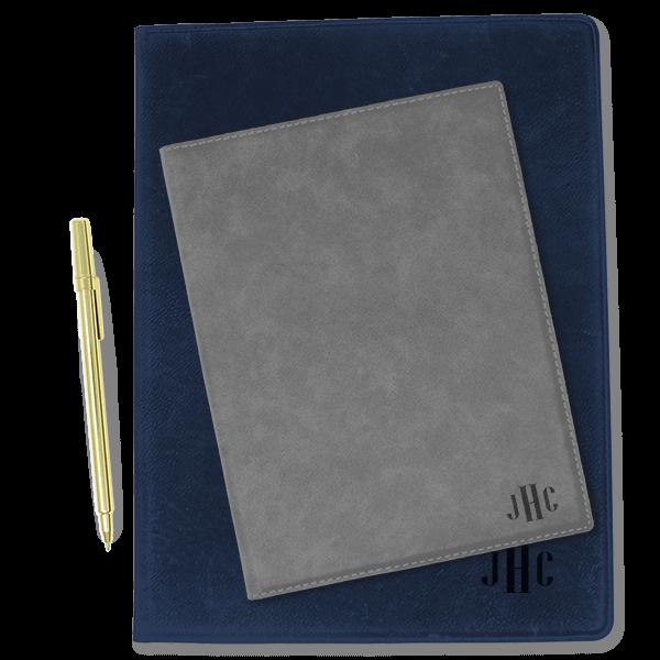 Monogram Leatherette Folio