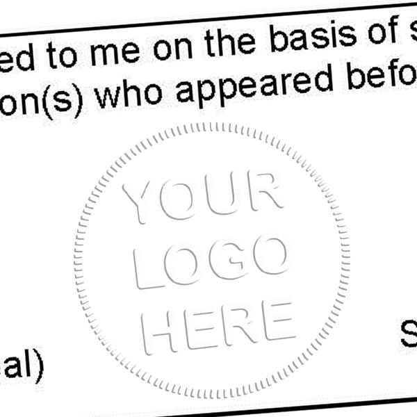Logo Embosser Seal Imprint Example