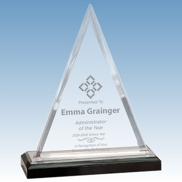 Administrator Beveled Triangle Acrylic Award