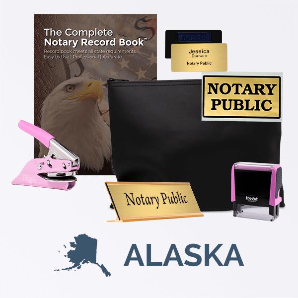 Alaska Pink Deluxe Notary Kit