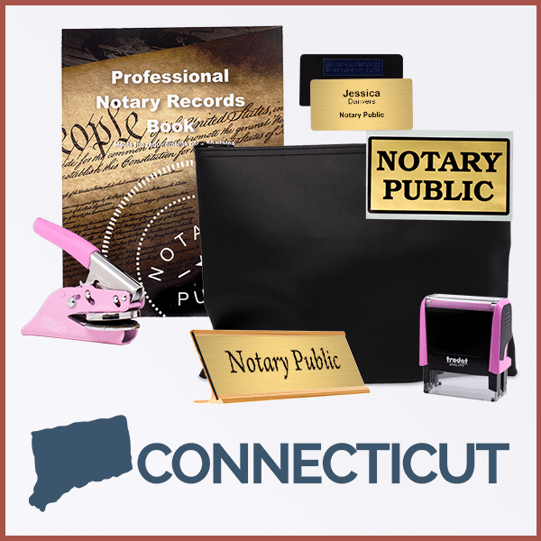 Connecticut Pink Deluxe Notary Kit