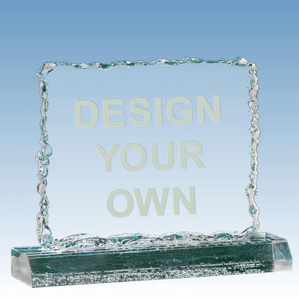 A3255 - Crushed Ice Jade Acrylic Award