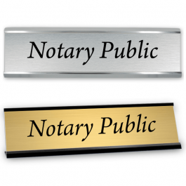 """2"""" x 8"""" Notary Public Sign with Frame"""