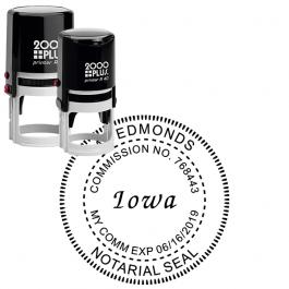 Iowa Notary Round Seal