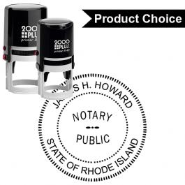 Rhode Island Round Notary Seal