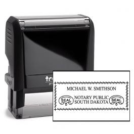South Dakota Rectangle Notary Seal