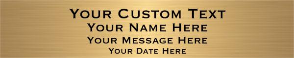 """Custom Four Line Brass Plates   2"""" x 10"""""""