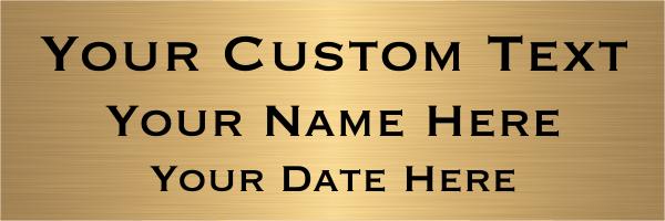 "Custom Three Line Brass Plates | 2"" x 6"""