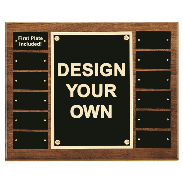 """12 Plate 12"""" x 15"""" Perpetual Plaque with Center Frame"""