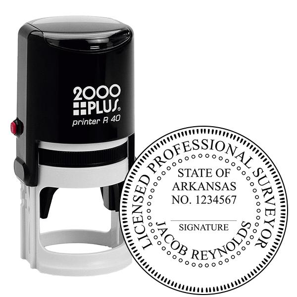 State of Arkansas Land Surveyor Seal Stamp