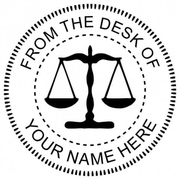From The Desk of Seal with Scales of Justice
