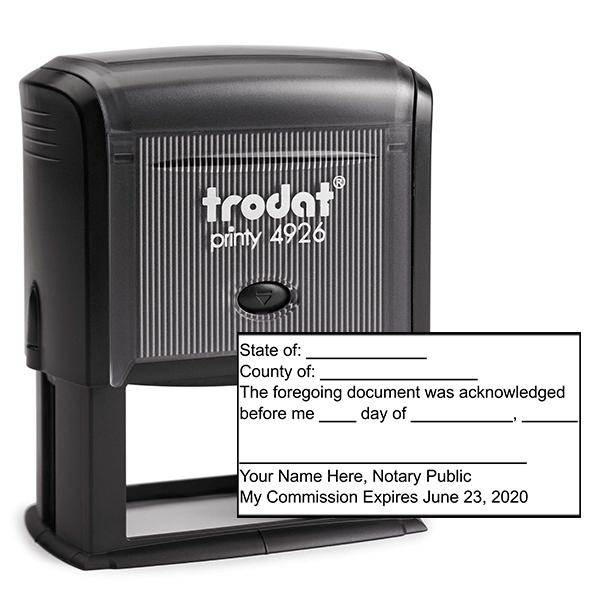 Acknowledgement Stamp for Affidavit Notary Public