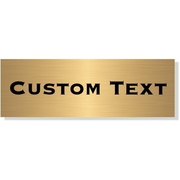 "Single Line Custom Text Brass Plate | 1"" x 3"""