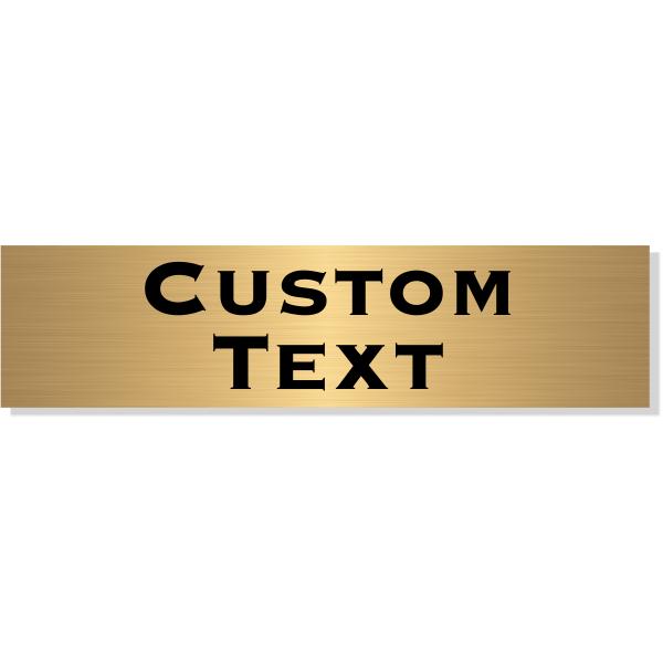 "Double Line Custom Text Brass Plate   2"" x 8"""