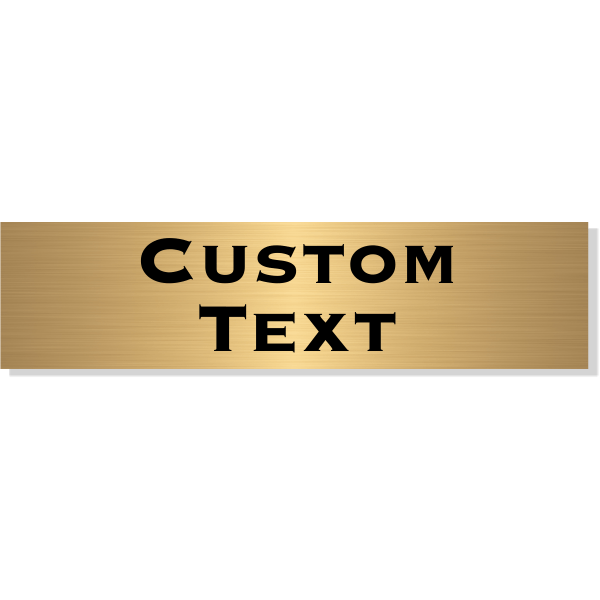 "Double Line Custom Text Brass Plate | 3"" x 12"""