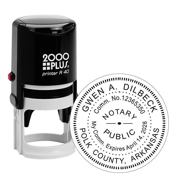 Arkansas Notary Round Stamp