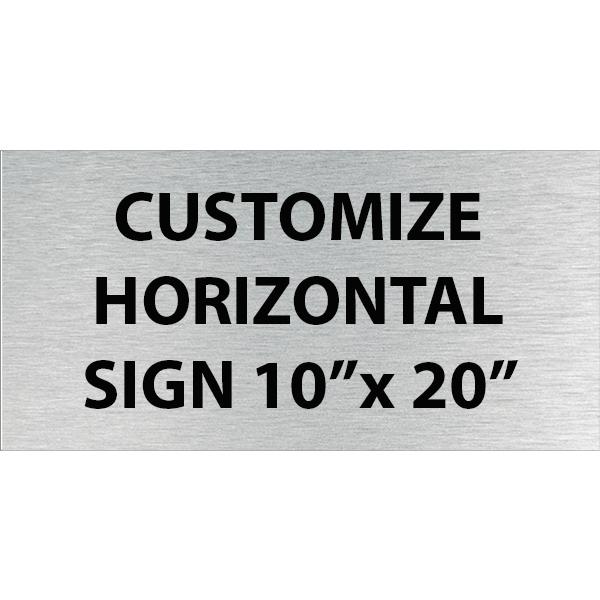 "Engraved Sign Horizontal 10"" x 20"""