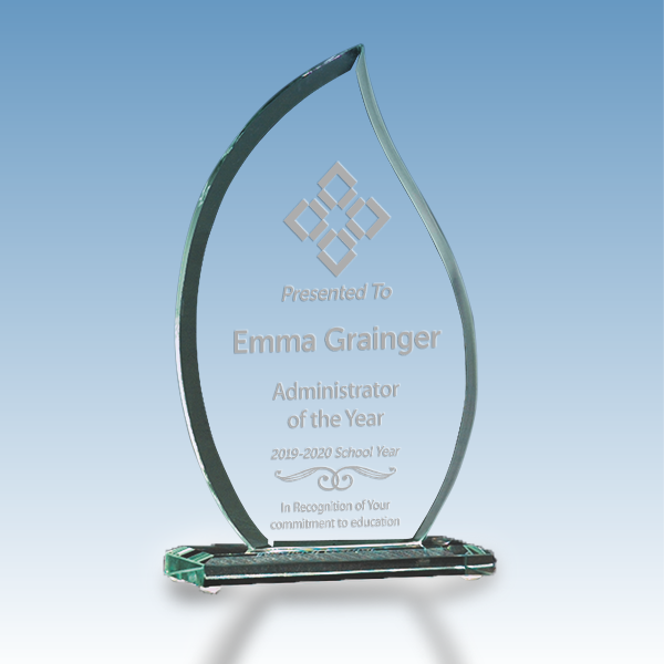 Administrator of the Year Flame Glass Award