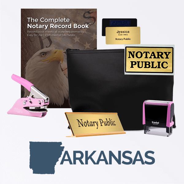 Arkansas Pink Deluxe Notary Kit