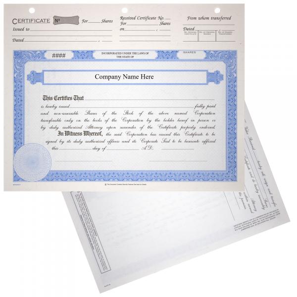 BLUTO 02 Corporate Stock Certificates