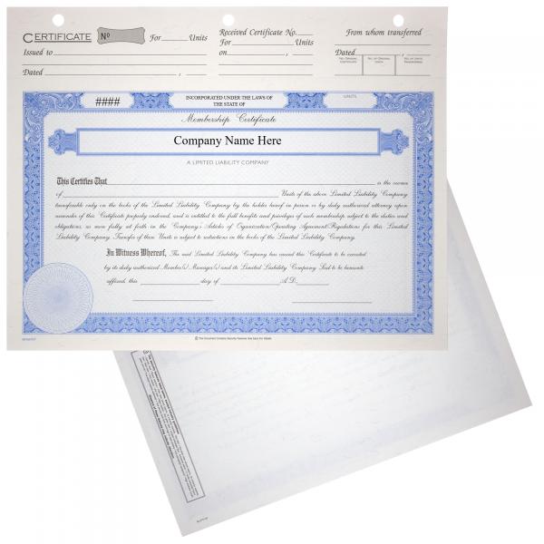 BLUTO 03 LLC Membership Certificates   Quantity of 20 or More