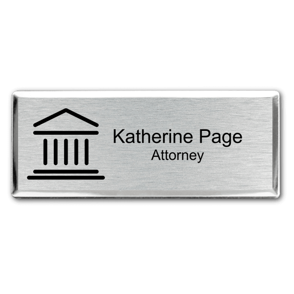 Courthouse Law Office Premier Name Tag
