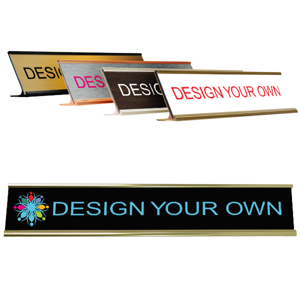 """Customizable Name Plate for Desk - Full Color 2"""" x 12"""""""