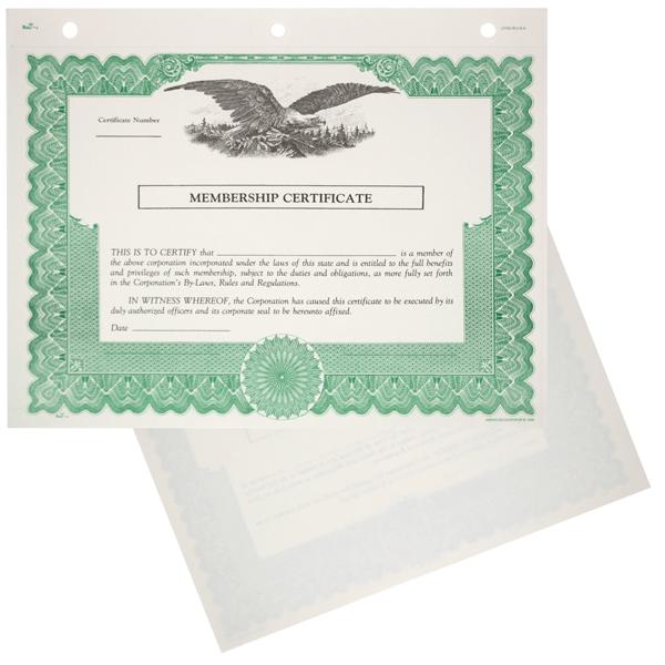 Duke 6 Blank Nonprofit Membership Certificates   Quantity of 20 or More