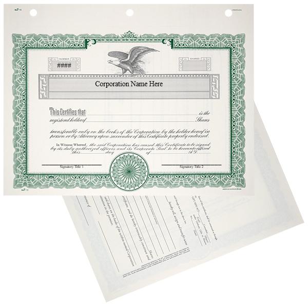 Duke 10 Stock Certificates | Quantity of 20 or More