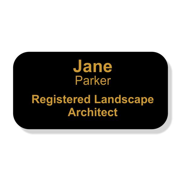 Engraved Registered Landscape Architect Name Tag