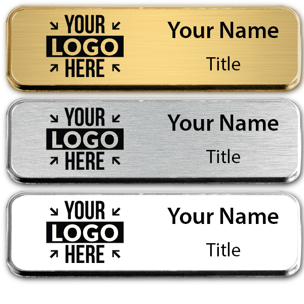 Extra Small Engraved Executive Badges with Rounded Corners