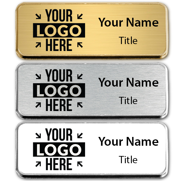 Small Engraved Executive Badges with Rounded Corners