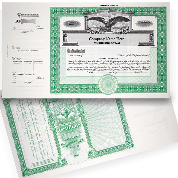 GOES 364 Capital Stock Certificates   Quantity of 20 or More