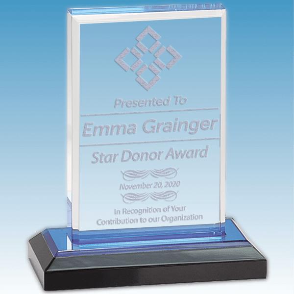 Honorary Donor Straight Bevel Acrylic Award