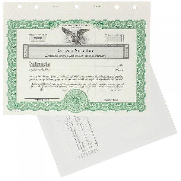 GOES KG2 Corporate Stock Certificates | Quantity 20 or More