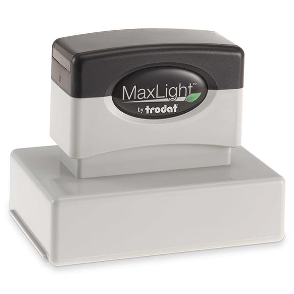 MaxLight Custom Pre-Inked Stamp - MAX-165S -  Black Ink
