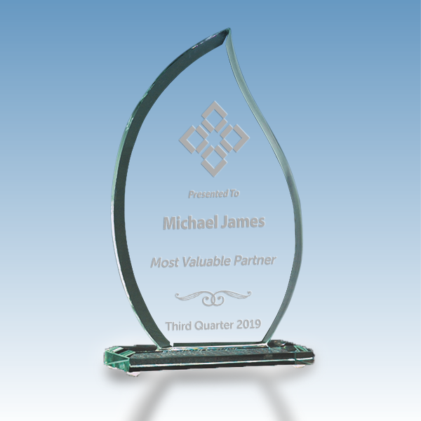 Most Valuable Person Flame Glass Award