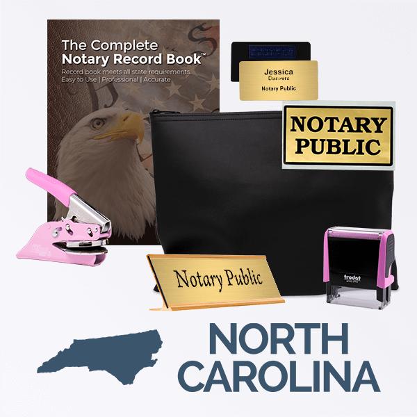 North Carolina Pink Deluxe Notary Kit