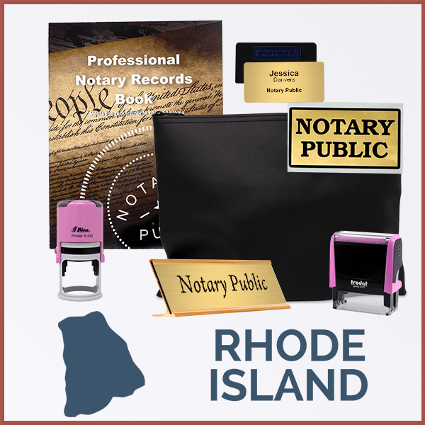 Rhode Island Pink Deluxe Notary Kit